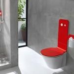 vente WC suspendu couleur rouge CRIS BTP Savoie