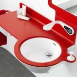 lavabo coloré elect CRIS BTP