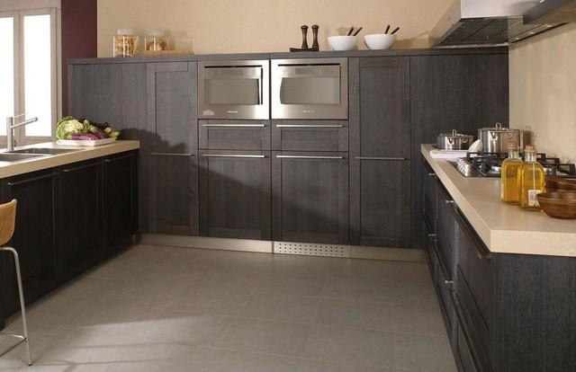 Vente meuble salle de bain cuisines et dressings en savoie - Cuisine ceruse gris ...