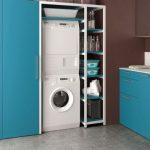 grand meuble rangement buanderie laverie coloré - ici bleu
