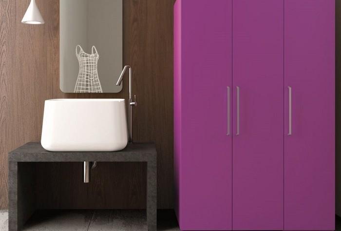 Vente meuble salle de bain cuisines et dressings en savoie - Couleur rose violet ...