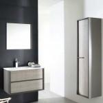 magasin Savoie meuble salle de bain avec colonne bois cérusé