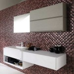 vente mosaique céramique rouge et noir et meuble salle de bains CRIS BTP