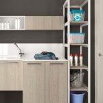meuble vasque laqué, mélaminé ou bois suspendu et rangement CRIS BTP