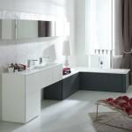 meubles salle de bains moderne blanc antracite deco travaux