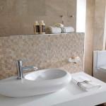 vente carrelage et faience pierre mosaique dont profil décoratif et lavabo flamme déco