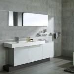 vente faience grand format gris dont profil faience et meuble salle de bain moderne pour rénovation chalet Val d'Isère