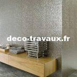vente faïence grand format motif mosaique effet brillant métal bronze marron CRIS BTP Savoie