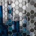 mosaique hexagones métaux et verre en vente chez ChrisBTP