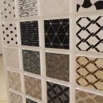 mosaique moderne noir et blanc ou bicolor