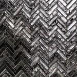 mosaique verre metal or argent CRIS BTP