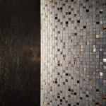 pierre mosaique bronze et or
