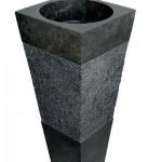 vasque pierre colonne noire