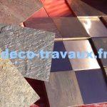 vente feuilles de pierre et mosaïque en métal bronze cuivre CRIS BTP deco-travaux Savoie